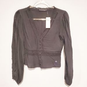 NWT Abercrombie button blouse